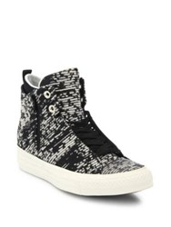 Converse Chuck Taylor Winter Knit High Top Sneakers Black Light Gold