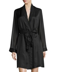 La Perla Jazztime Cotton Silk Short Robe Black