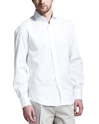 Brunello Cucinelli Button Down Slim Spread Collar Shirt White White Xl 54