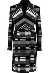 Roland Mouret Nelson Brushed Cotton Blend Coat Black