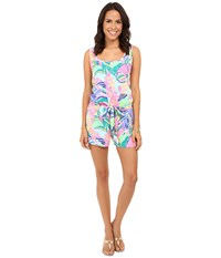 Lilly Pulitzer Rina Romper Multi Exotic Garden Women's Jumpsuit And Rompers One Piece