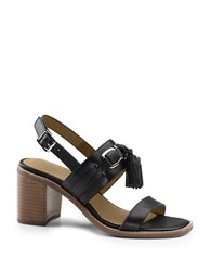 G.H. Bass Roselle Leather Sandals Black