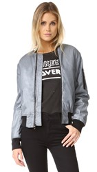 Hudson Gene Puffy Bomber Jacket Dusted Silver