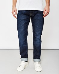 Edwin Ed 55 Red Listed Selvedge Relaxed Tapered 14Oz Washed Jeans Navy