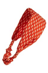 Cara Paisley Print Head Wrap Orange