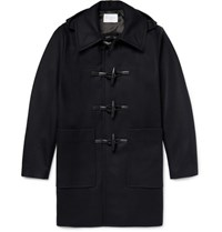 Sandro Wool Blend Duffle Coat Navy
