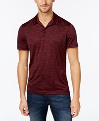 Alfani Men's Short Sleeve Marled Polo Only At Macy's Port Combo