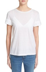 Women's Helmut Lang Cotton And Cashmere Tee Optic White