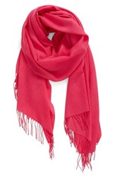 Nordstrom Women's Tissue Weight Wool And Cashmere Scarf Pink Magenta