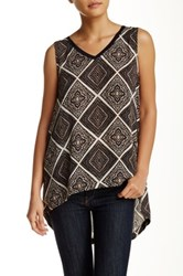 14Th And Union Woven Tank Multi