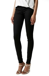 Topshop Moto 'Leigh' High Rise Skinny Jeans Black Tall