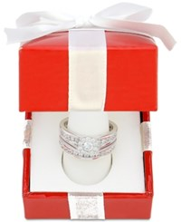 Macy's Diamond Bridal Channel Set 1 Ct. T.W. In 14K White Gold