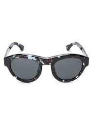 Dries Van Noten 'Dries 66' Sunglasses Black