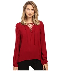 Bb Dakota Eddingham Top Brandy Wine Women's Clothing Burgundy