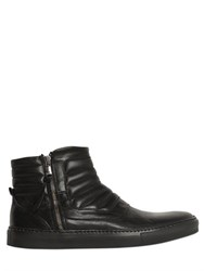 Pawelk's Zip Up Padded Leather Sneakers