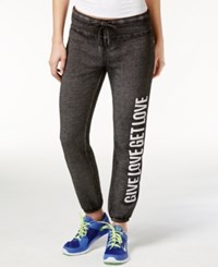 Betsey Johnson Give Love Get Love Sweatpants Charcoal