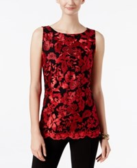 Inc International Concepts Embroidered Shell Only At Macy's Real Red