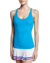 Lucas Hugh Technical Knit Sport Tank With Shelf Bra Turquoise