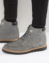 Kickers Kwamie Suede Lace Up Boots Grey