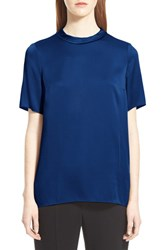 Women's Lanvin Crewneck Satin Blouse