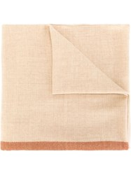 Massimo Alba Woven Stripe Scarf Nude And Neutrals