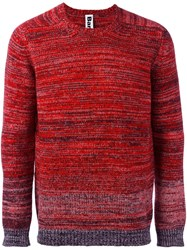 Bark Mouline Crew Neck Jumper Red