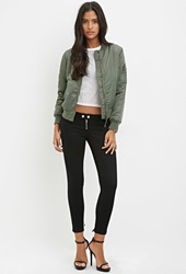 Forever 21 Lace Up Back Jeans Black