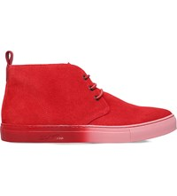 Del Toro Ombre Sole Suede Chukka Trainers Red