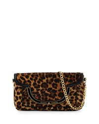 Elaine Turner Designs Elaine Turner Greta Cheetah Print Calfskin Shoulder Bag Golden Cheetah