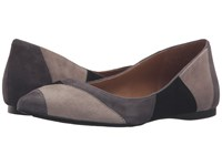 French Sole Star Grey Taupe Black Suede Women's Dress Flat Shoes Multi