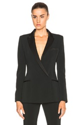 Thierry Mugler Mugler Fitted Cady And Draped Satin Blazer In Black
