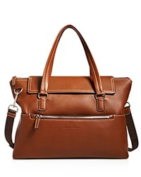 Salvatore Ferragamo Manhattan Leather Briefcase Cuoio