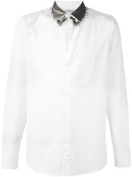Alexander Mcqueen Sequin Embroidered Shirt White