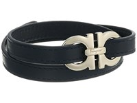 Salvatore Ferragamo Double Wrap With Gancini Bracelet 545054 Pelle Marine