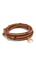 Chan Luu Aiden Wrap Bracelet Lapis Natural Brown