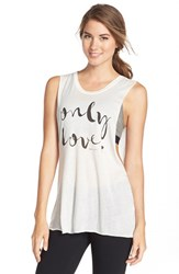 Women's Spiritual Gangster 'Only Love' Graphic Muscle Tee Stardust