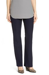 Eileen Fisher Women's Washable Stretch Crepe Bootcut Pants Midnight