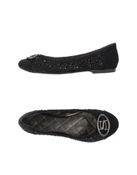 Swish Ballet Flats Black