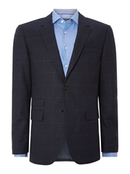 Tommy Hilfiger Rebel Slim Fit Large Check Jacket Blue