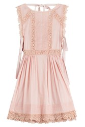 Red Valentino Cotton Dress With Embroidery Rose