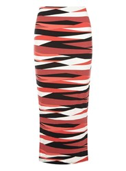 Dorothy Perkins Zebra Print Tube Skirt Red