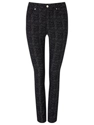 Phase Eight Aida Speckled Jeans Black White
