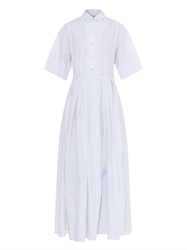 Thierry Colson J4 Oriane Striped Cotton Shirtdress