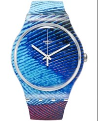 Swatch Unisex Swiss Exotic Charm Multi Color Silicone Strap Watch 41Mm Suok113