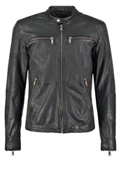 Freaky Nation Liverpool Leather Jacket Black
