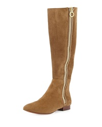 Vc Signature Audry Square Toe Suede Boot Tobacco