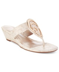 Impo Gibson Wedge Sandals Women's Shoes Praline Gold