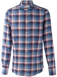 Ermanno Scervino Plaid Shirt Blue