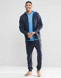 Hugo Boss Cuffed Jogger In Navy Regular Fit Navy