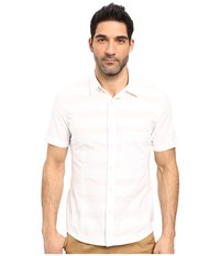 7 Diamonds Bright Line Short Sleeve Shirt White Men's Short Sleeve Button Up